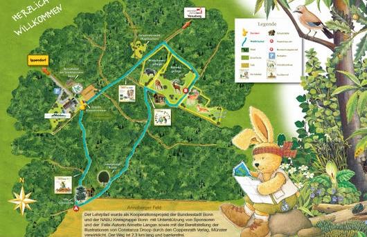 Waldau Bonn - Rundweg mit dem Hasen Felix