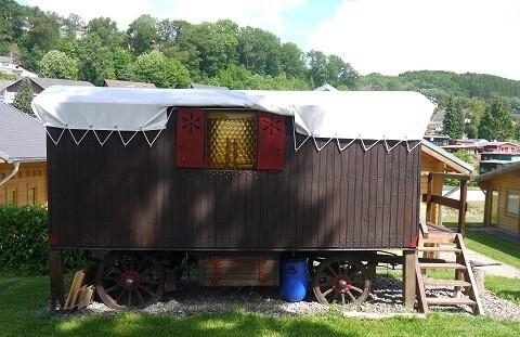 Bauwagencamp in der Eifel
