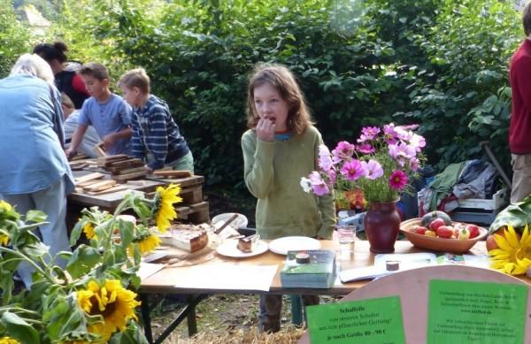 Frühlings-Markt auf dem Bio-Bauernhof mit Blattlaus & Klein-Gemüse