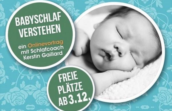"""Zoom Online Vortrag """"Babyschlaf verstehen"""" für Eltern"""