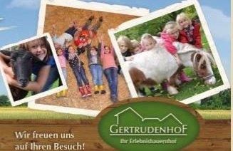 Erlebnisbauernhof Getrudenhof mit riesigem Spielplatz