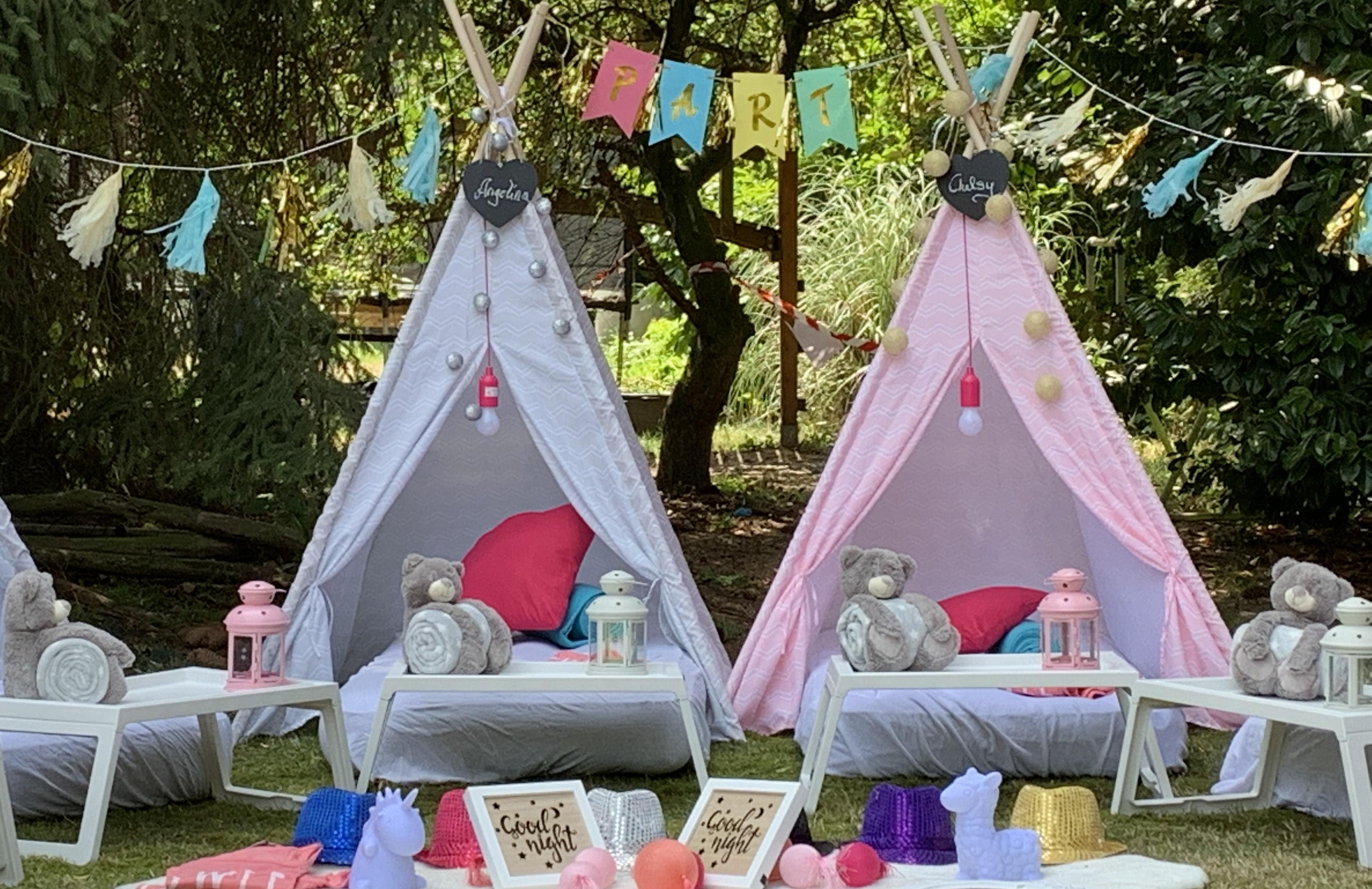 """Tipi Day Party"" in unseren Cool-for-Kids Tipi Zelten (5 Tipis mieten)"
